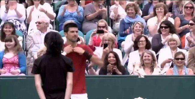 Le strip-tease de Djokovic